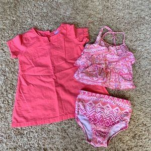 Toddler swimsuit and cover up